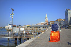 Peaceful morning port view Venice Italy Royalty Free Stock Photos