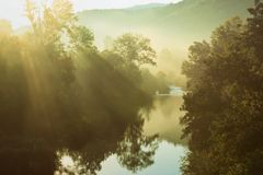 Peaceful Morning River Stock Photography