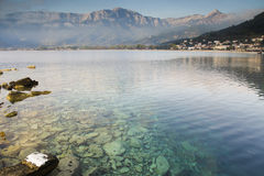 Peaceful morning on Thassos island Stock Photos