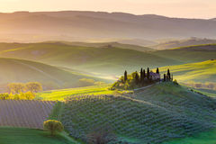 Peaceful morning in Tuscany Stock Photo