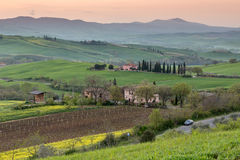 Peaceful morning in Tuscany Stock Photos