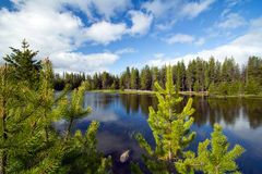 Peaceful Mountain Lake stock images