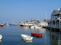 Peaceful Nantucket harbor Stock Images