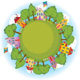 Peaceful neighborhood. A peaceful neighborhood on Earth vector illustration