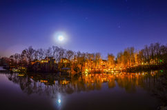 Peaceful night view Royalty Free Stock Image