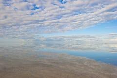 Peaceful ocean panorama reflection Australia Stock Photo