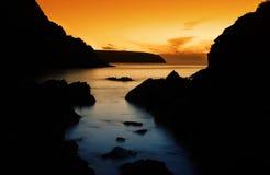 Peaceful Ocean Sunset Stock Photos