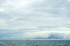 Peaceful Ocean With Beautiful Sky Background Stock Image