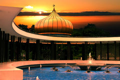 Peaceful Oriental Garden Royalty Free Stock Photo