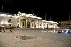 Palace square at night. Valetta, Malta. royalty free stock photography