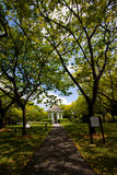Peaceful Park. A pavilion in the middle of a garden park Royalty Free Stock Photos