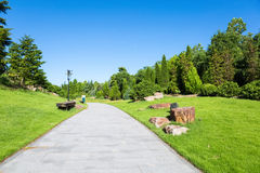Peaceful park in the morning Royalty Free Stock Photography