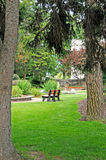 Peaceful park setting Stock Photography