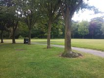 Peaceful Park. Small empty park during the day Royalty Free Stock Photos