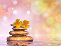 Peaceful pebbles - 3D render Royalty Free Stock Images