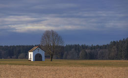 Peaceful place of worship in the fields Royalty Free Stock Photos