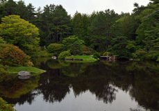 Peaceful pond. Small pond in Acadia National Park, ME Royalty Free Stock Photo