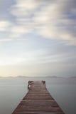 Peaceful pontoon at sunrise Royalty Free Stock Photos