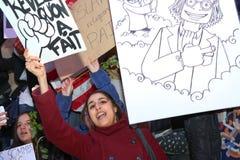 Peaceful protest in Place de la Republique Stock Photo