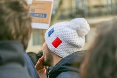 Peaceful protest in Place de la Republique Stock Image