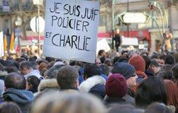 Peaceful protest in Place de la Republique Royalty Free Stock Photography