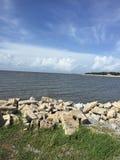 Waveland beach Peaceful stock photo