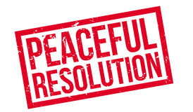 Peaceful Resolution rubber stamp Royalty Free Stock Photo