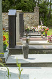 Peaceful Rest: Graveyard Headstones. Stock Photos