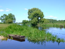 Peaceful river Stock Images