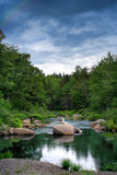 Peaceful river in a forest Stock Photo