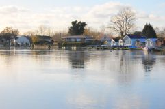 Peaceful river Thames scene royalty free stock photo