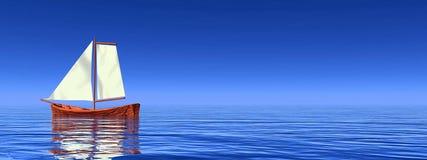 Peaceful sailboat - 3D render Royalty Free Stock Photos