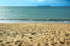 Peaceful Sandy Beach Royalty Free Stock Images