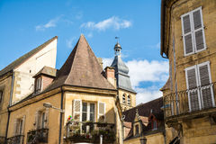 Peaceful sarlat la caneda village, france Royalty Free Stock Photography