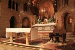 Peaceful scene inside worship area, Holy Ghost Catholic Church,Denver,Colorado,2015 Stock Photography