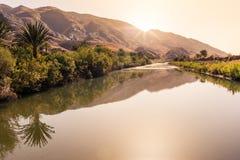Peaceful scene in a oasi, South Morocco Stock Photos