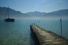 Peaceful scenery on austrian lake Stock Photo