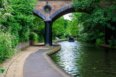 Peaceful Scenery of Canal Stock Photos