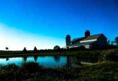 Peaceful scenic farm. A peaceful scenic farm view of a barn Stock Photo
