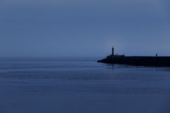 Peaceful sea dusk Royalty Free Stock Images
