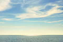 Peaceful seascape at midday Royalty Free Stock Images