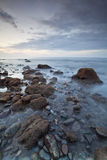 Peaceful seascape. Shot at Pantai Amed in the morning right after sunrise Stock Images