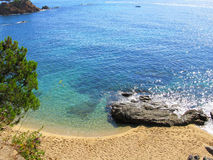 Peaceful seashore(Costa Brava) Royalty Free Stock Images