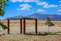 Peaceful shade in Arizona rest stop Stock Image