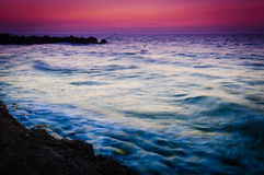 Peaceful Shoreline Sunset Stock Photography
