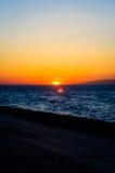 Peaceful Shoreline Sunset Royalty Free Stock Photos