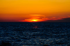 Peaceful Shoreline Sunset Royalty Free Stock Images