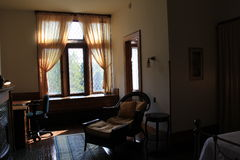 Peaceful sitting area in Mrs. Trask's bedroom, Yaddo Garden,Saratoga Springs,New York,2014 Royalty Free Stock Photos
