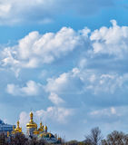Peaceful sky with clouds over Ukraine Stock Photography