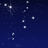 Peaceful sky filled with stars Stock Photo
